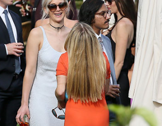 Jennifer Lawrence Attends Friend's Wedding