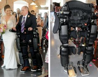 Video: Paralyzed Dad Walks Daughter Down The Aisle in Derby