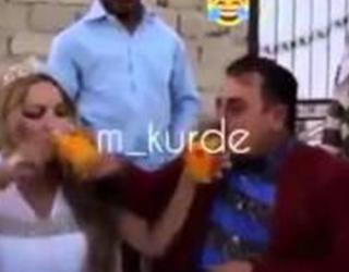 Video: Groom Spills Juice On His Bride