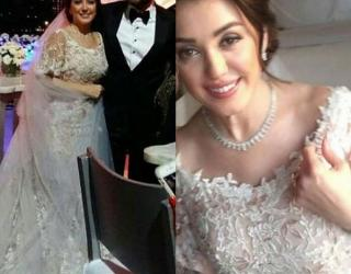 First Pictures of Kinda Alloush and Amr Youssef's Wedding