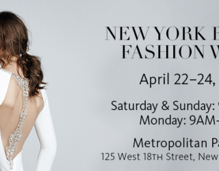 New York Bridal Week Spring 2017 To Kick Off On 22 April