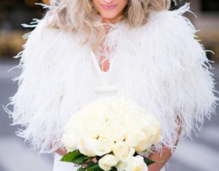 Feathers Take Over Fur in Bridal Fashion This Season