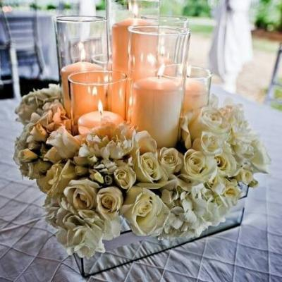 Elegant Candles Centerpiece