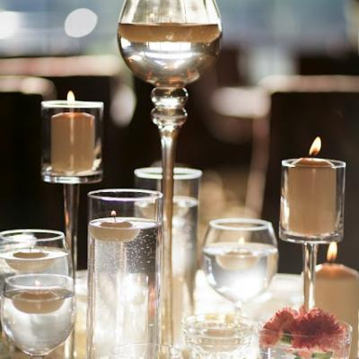 Simple Candles  Centerpiece