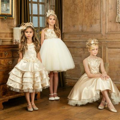 Flower Girl Dresses with Matching Headwear