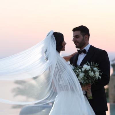 حفل زفاف يافا وخليل في البحر الميت