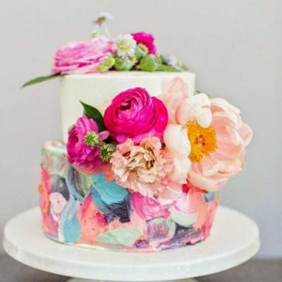 Colored Wedding Cakes Perfect for a Colorful Wedding