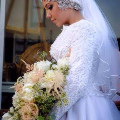 1d4446e14 فساتين زفاف للمحجبات، أحدث موديلات فساتين اعراس محجبات | موقع العروس