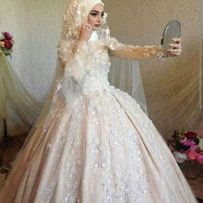 Beautiful Hijab Wedding Dresses For Winter