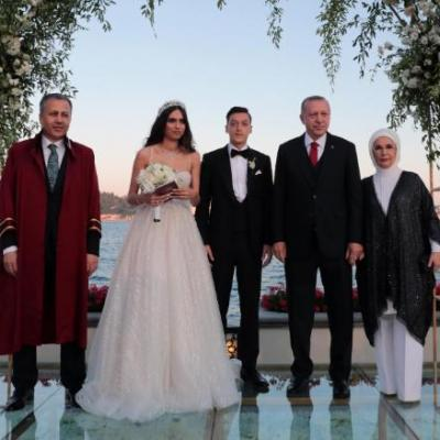 أردوغان يحضر حفل زفاف نجم فريق أرسنال مسعود أوزيل