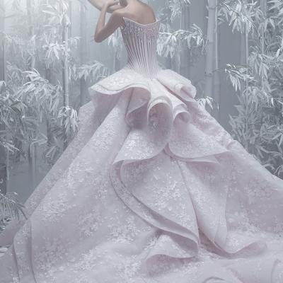 مجموعة فساتين زفاف مايكل سينكو لربيع وصيف 2019