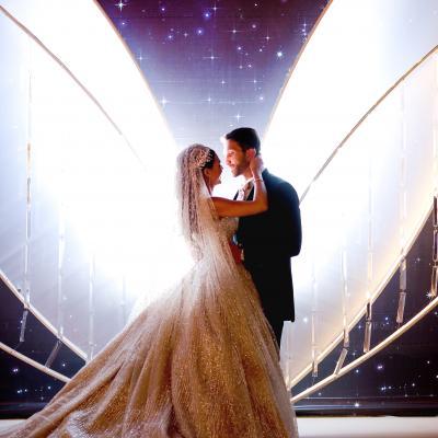 حفل زفاف باللون الذهبي في بيروت من تنظيم بول نصر