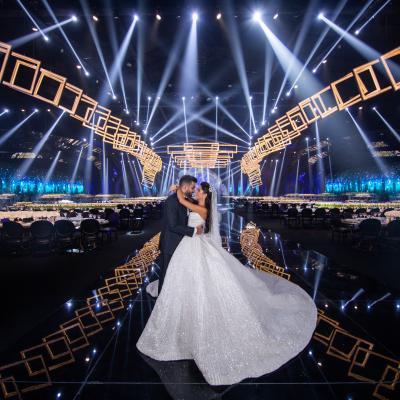 حفل زفاف من وحي الحب والضوء من تنظيم آي كاندي في لبنان