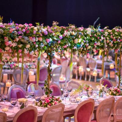 A Dazzling Pink Wedding in Lebanon