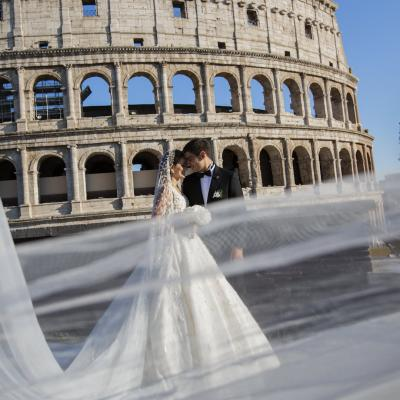 Nicolas and Ayla's Destination Wedding in Rome