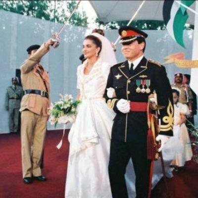 King Abdullah The Second and Queen Rania's Wedding