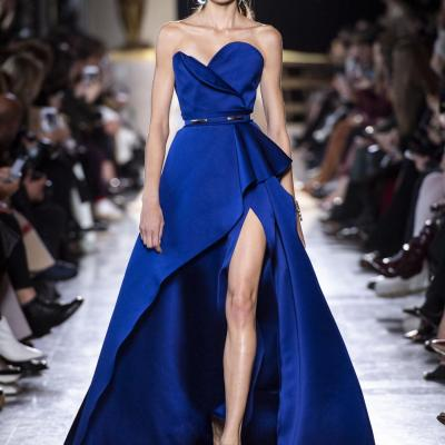 Dazzling Blue Engagement Dresses from Lebanese Designers