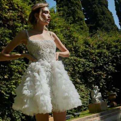 فساتين اعراس قصيرة من أحدث مجموعات فساتين زفاف 2020