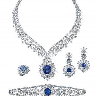 """Love in Mist"" Diamonds and Sapphire Collection by Mouawad"