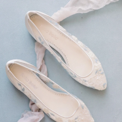 5 Stunning Flat Wedding Shoes