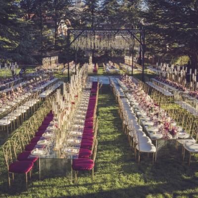 A Burgundy Garden Wedding in Lebanon