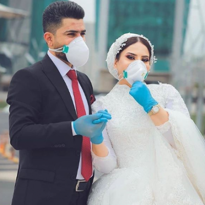 Unique Wedding Pictures During The CoronaVirus