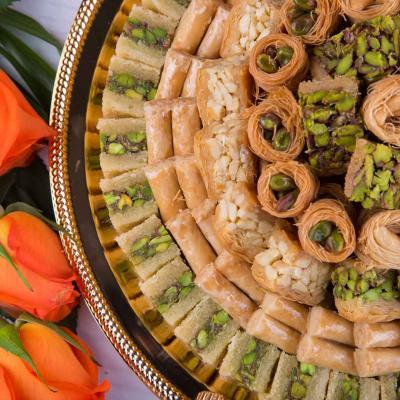 أسس ضيافة الحلويات العربية في حفل الزفاف