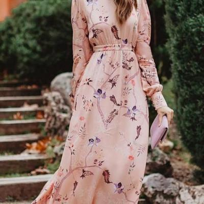 Long Sleeved Maxi Dresses For Ramadan
