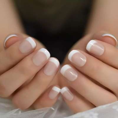 French Manicure for the Bride