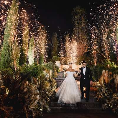 A Golden Lebanese Wedding for Nancy and Khalil