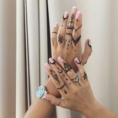 أجمل نقوش الحناء على أطراف الأصابع للعروس