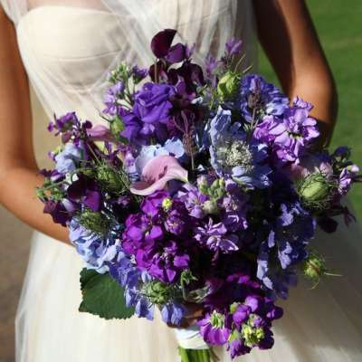 Pretty Purple Wedding Bouquets