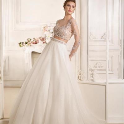 Charme Blanc Pour les Robes de Mariées