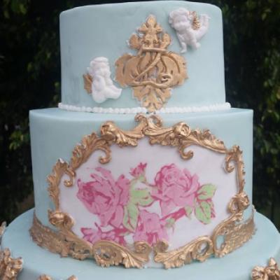 Vanilla Sky Cake Design