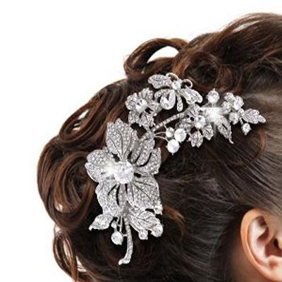 اكسسوارات شعر وتاج العروس
