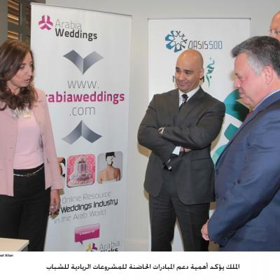 King Abdullah II Meets Arabia Weddings' Team