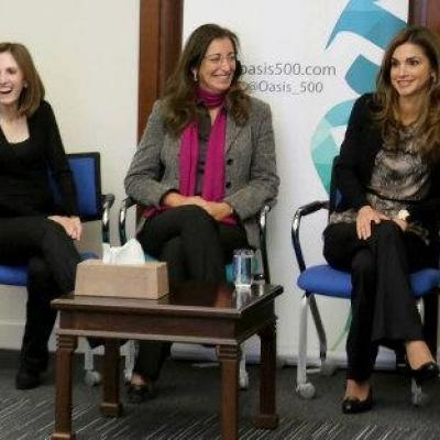 Queen Rania Visits Oasis500 and Meets with Arabia Weddings Team