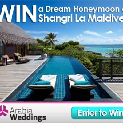 Win A Honeymoon At The Shangri La Maldives with Arabia Weddings!