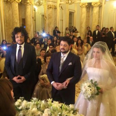 حفل زفاف فاخر لنجمة الأوبرا الروسية آنا نيتريبكو