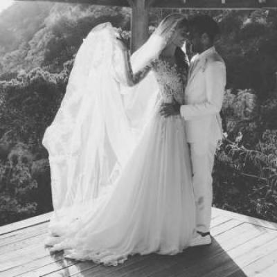حفل زفاف لاعب كرة القدم داني ألفيس وجوانا سانز