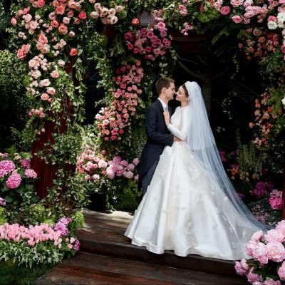 Miranda Kerr Married Snapchat Founder Evan Spiegel in Magical Wedding Dress