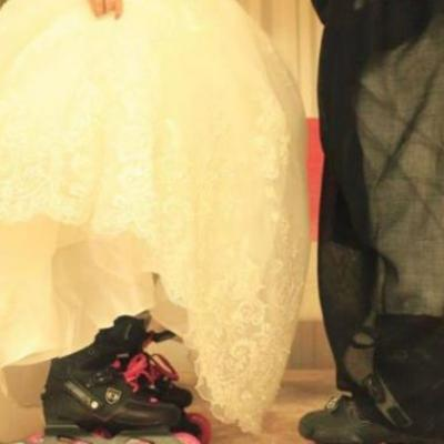 Video: Saudi Couple Get Married in Skates