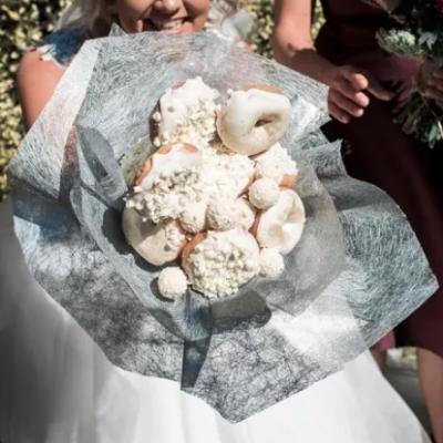 Bride Starts Viral Trend of Donut Bridal Bouquet