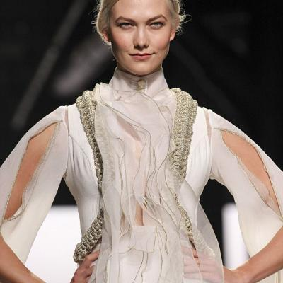Karlie Kloss Stuns in Wedding Dress at NY Fashion Week
