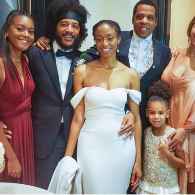 Beyonce and Blue Ivy Attend Wedding Together