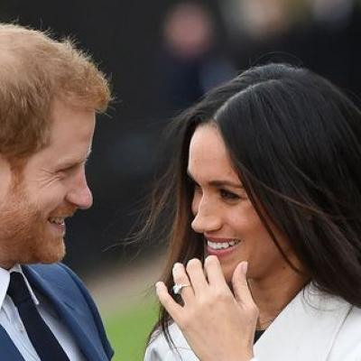 Prince Harry and Meghan Markle's First Engagement Pictures