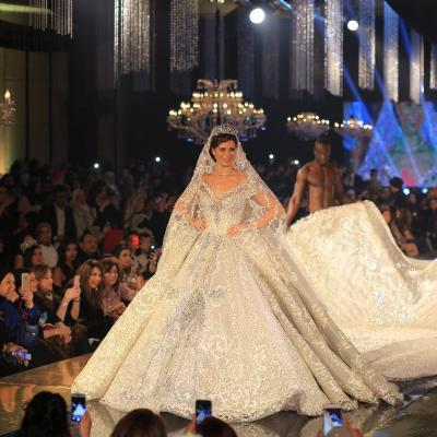 Yosra El Lozy Models Most Expensive Wedding Dress in The World
