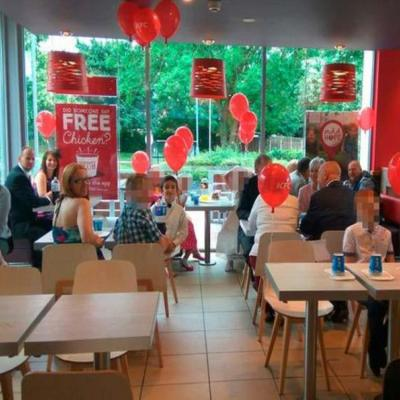 Pictures: A Wedding at A KFC Restaurant