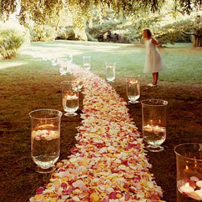 حفل زفاف ساحر في الحديقة