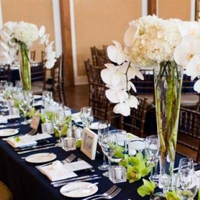 Your Wedding in Colors: Navy Blue and Silver